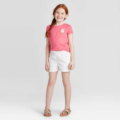 Girls' Eyelet Shorts - Cat & Jack™