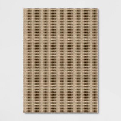 7' x 10' Outdoor Rug Micro Grid Black/Beige - Smith & Hawken™