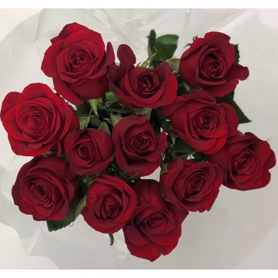 Fresh Cut Red Roses - 12ct