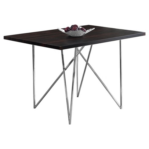 Dining Table - Chrome Metal - EveryRoom - image 1 of 2