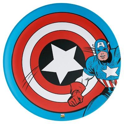 10  Captain America Melamine Dinner Plate - Red -Zak Designs
