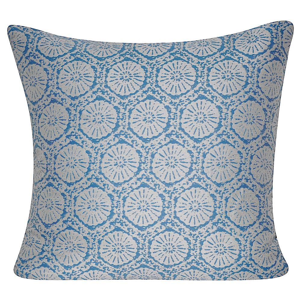 Gray Stamped Indoor/Outdoor Throw Pillow (
