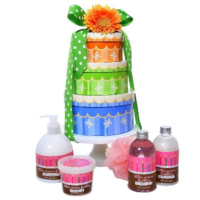 Alder Creek Gifts Happy Birthday Spa Wishes 4 Tier Gift Tower