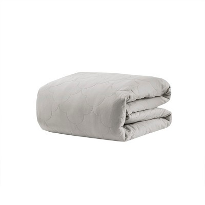 60 x70  18lb Deluxe Cotton Weighted Blanket Gray - Beautyrest