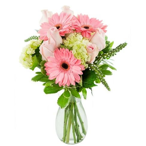 Kabloom Let Them Eat Cake Fresh Flower Arrangement With Vase Target