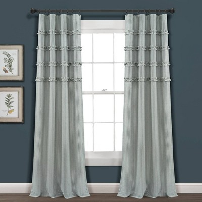 Vintage Stripe Yarn Dyed Cotton Window Curtain Panels - Lush Décor