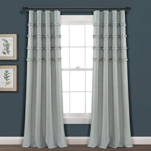 Vintage Stripe Yarn Dyed Cotton Window Curtain Panels - Lush Décor - image 1 of 4