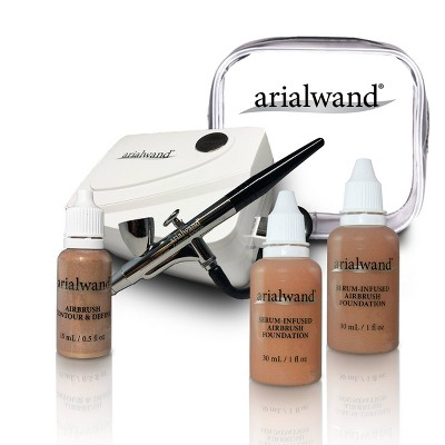 Arialwand Airbrush Kit with Serum Infused Foundation - 1 fl oz