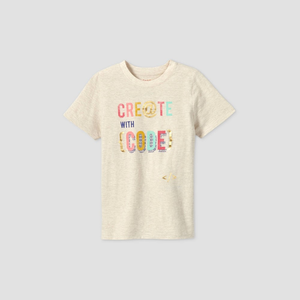 Kids 39 Short Sleeve 39 Create With Code 39 Graphic T Shirt Cat 38 Jack 8482 Cream Xs