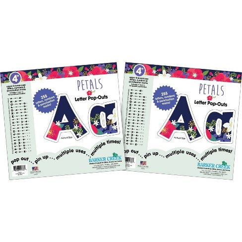 "Barker Creek 4"" 2pk Petals Letter Pop Out 510 Characters - image 1 of 4"