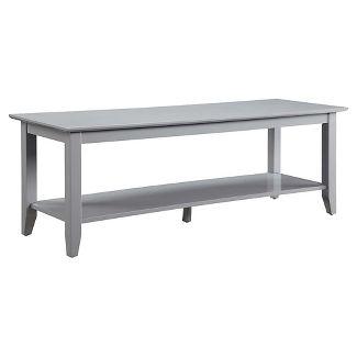 American Heritage Coffee Table with Shelf Gray - Johar Furniture