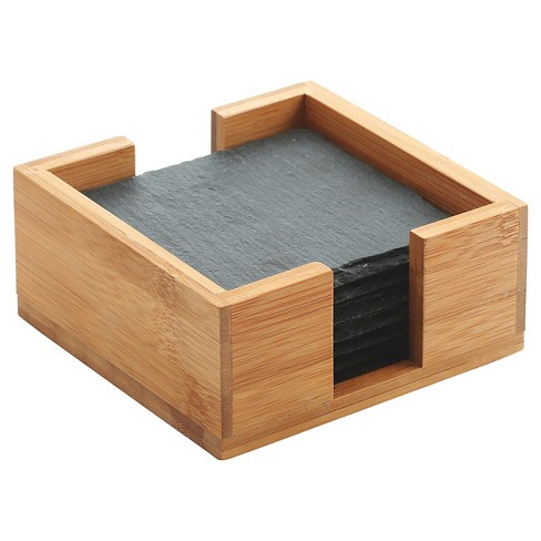 Thirstystone Slate Coasters in Bamboo Holder - image 1 of 1