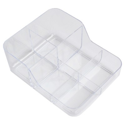 6 Compartment Dual Depth In Drawer Storage Tray Clear - Merrick