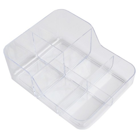 6 Compartment Dual Depth In Drawer Storage Tray Clear - Merrick - image 1 of 1