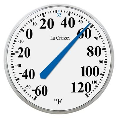 LA CROSSE 13.5-in Round Thermometer