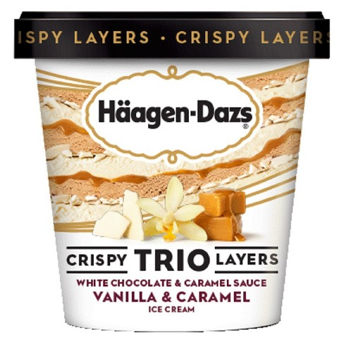 Haagen-Dazs White Chocolate & Caramel Sauce Vanilla & Caramel Ice Cream - 14 fl oz - image 1 of 1