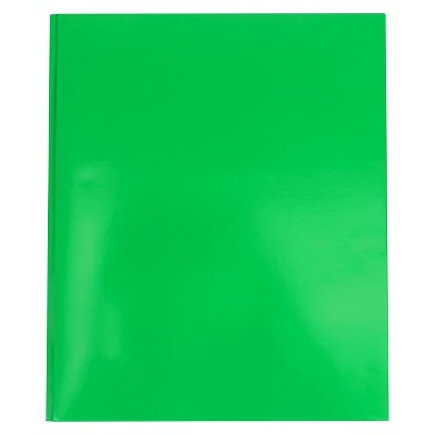2 Pocket Paper Folder with Prongs Green - Pallex