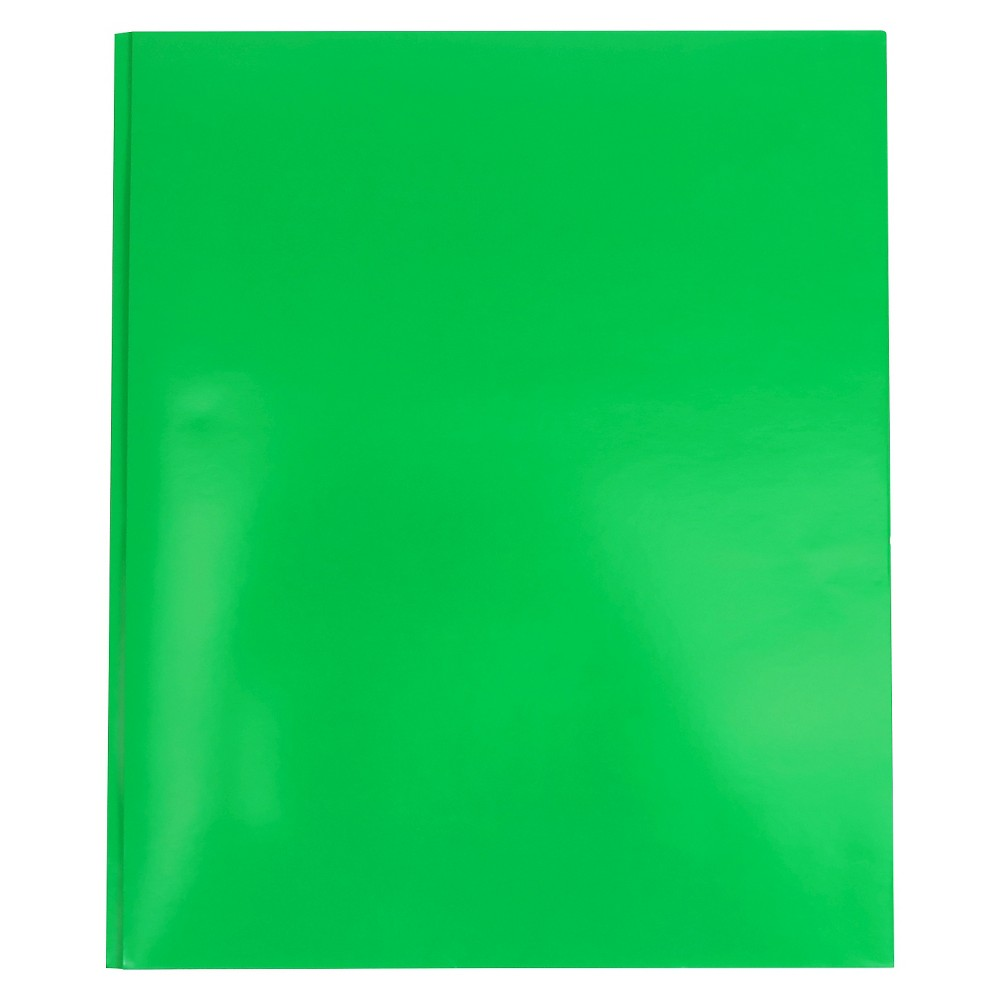 Image of 2 Pocket Paper Folder with Prongs Green - Pallex
