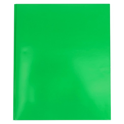 Paper Folder with Prongs 2 Pocket Green Pallex - image 1 of 3