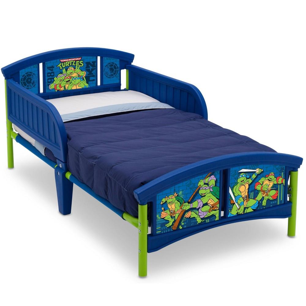 Image of Toddler Teenage Mutant Ninja Turtles Plastic Bed - Delta Children