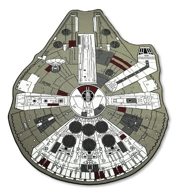 3'x4' novelty Area Rug Multicolored - Star Wars