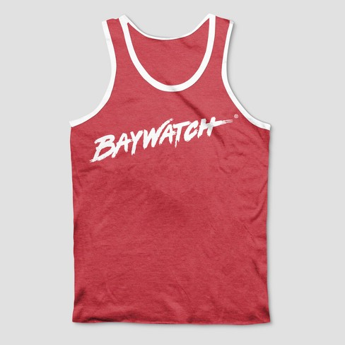 891e2dfba02a17 Men s Baywatch Tank Tops - Wave Red   Target