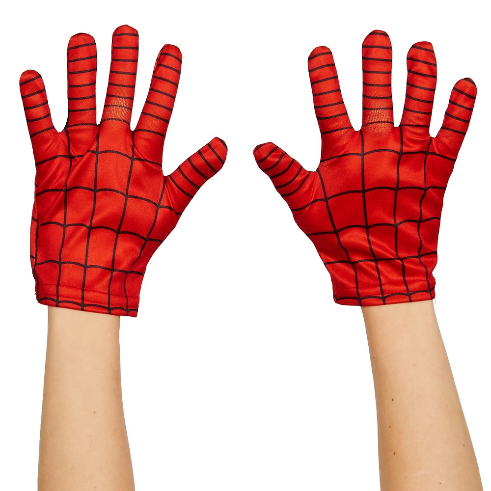 Kid's Ultimate Spider-Man Costume Gloves, Red