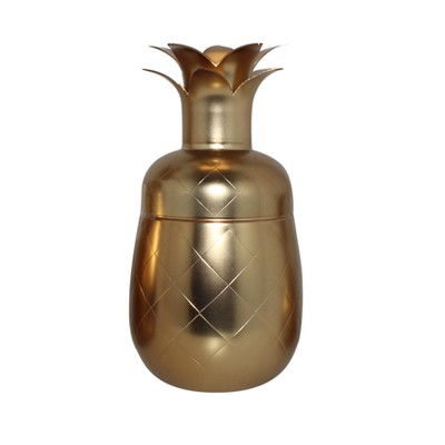 Silver One Pineapple Cocktail Shaker 17oz - Gold