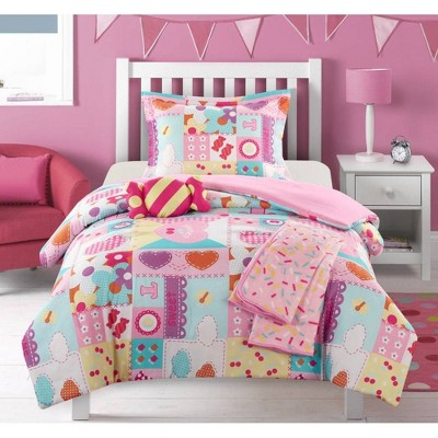 5pc Full Henry Comforter Set Pink - Chic Home Design