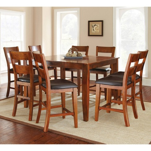 9pc Amanda Counter Height Dining Set Medium Brown - Steve Silver - image 1 of 3