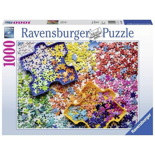 Ravensburger Puzzler's Palette Puzzle 1000pc, Adult Unisex image number null