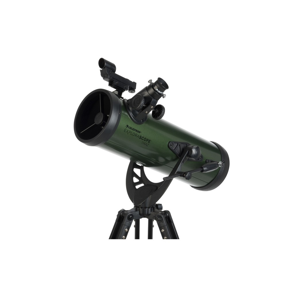 Image of Celestron ExploraScope 114AZ Newtonian - Black, Green Black