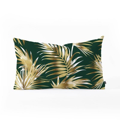 Marta Barragan Camarasa Golden Palms Oblong Lumbar Throw Pillow Bright Gold - Deny Designs
