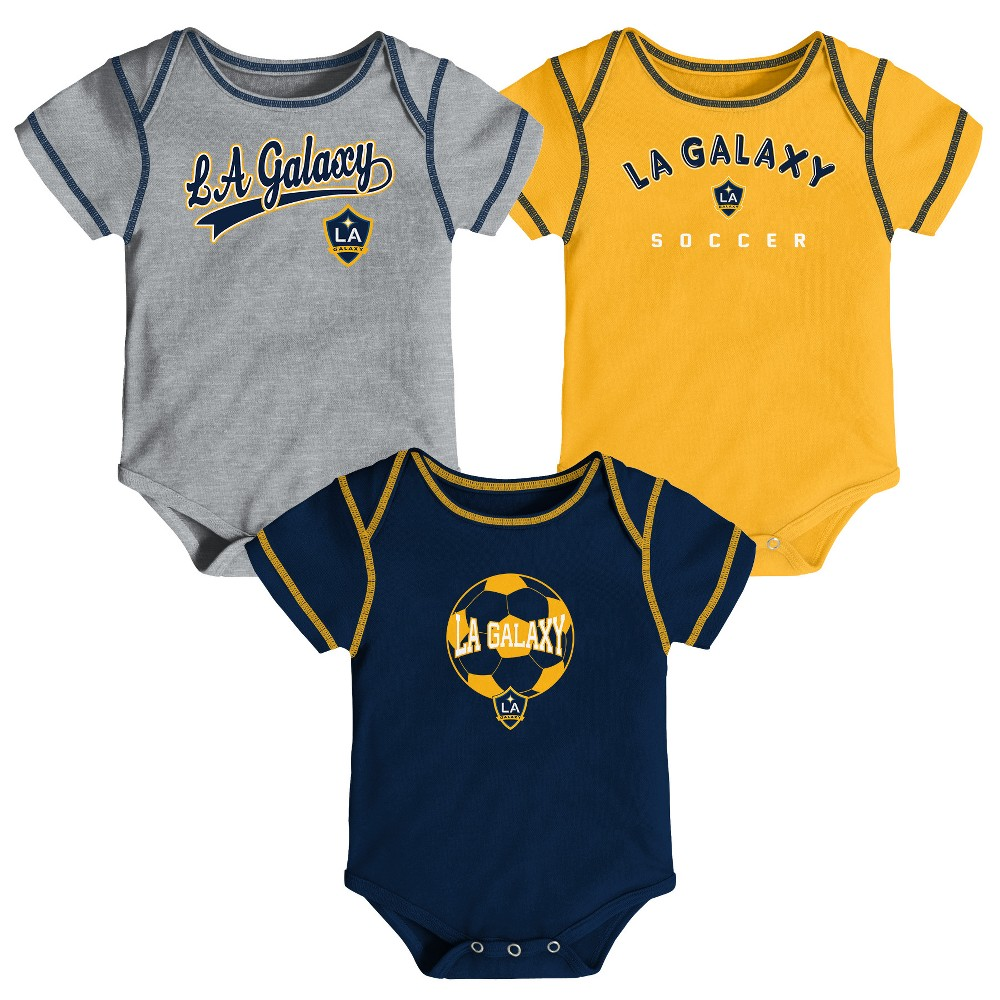 Mls Baby 3pk Onesies Los Angeles Galaxy - 18M, Infant Boy's, Multicolored