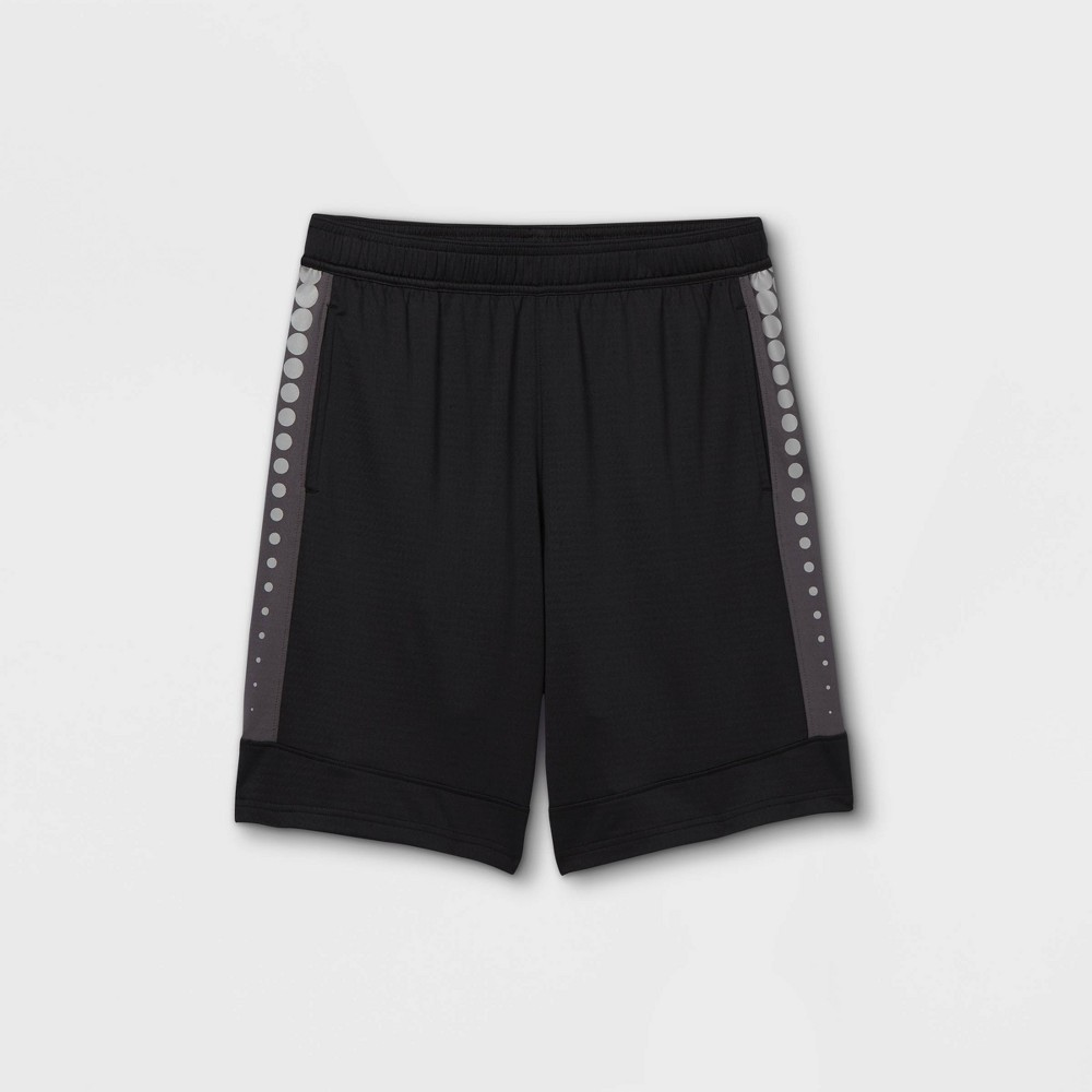 Boys 39 Basketball Shorts All In Motion 8482 Black Silver Xs