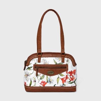 Concept Floral Print Satchel Handbag