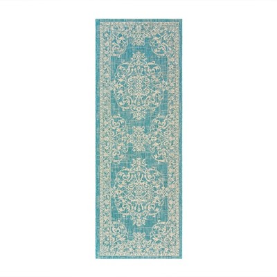 "2'2"" x 6' Paseo Ryoan Outdoor Rug Oasis/Sand - Avenue33"