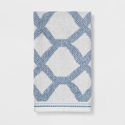 Geometrical Shape Hand Towels Blue - Threshold™