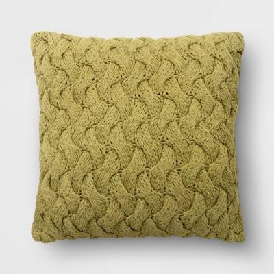 "18""x18"" Chunky Knit Square Throw Pillow - Threshold™"