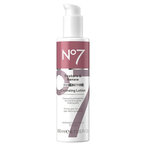 No7 Restore & Renew Dual Action Cleansing Lotion - 6.7 fl oz - image 1 of 4