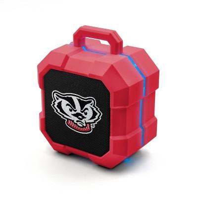 NCAA Wisconsin Badgers LED Shock Box Bluetooth Speaker