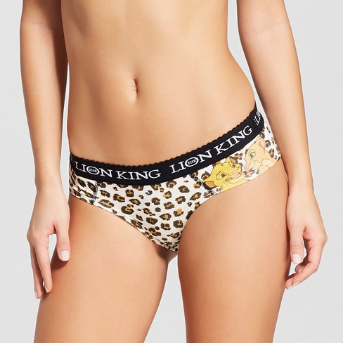Women's Disney Lion King Animal Print Hipster Briefs - image 1 of 2