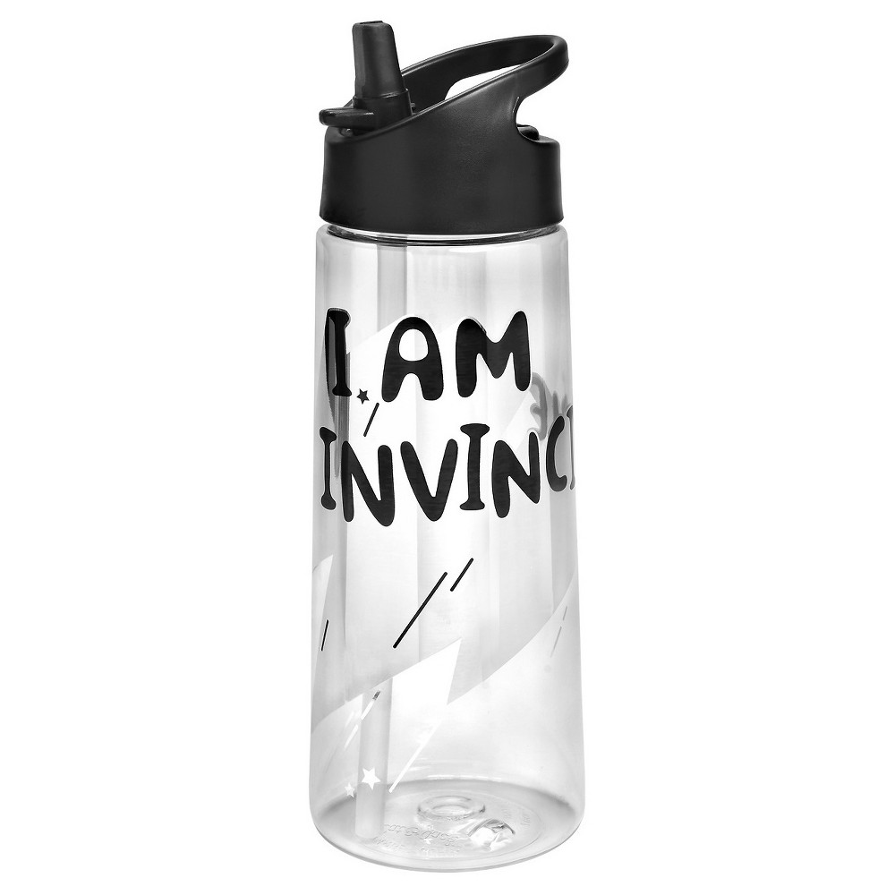 "Kids' 21.5oz Tritan Water Bottle ""I Am Invincible"" - Cat & Jack , Clear"