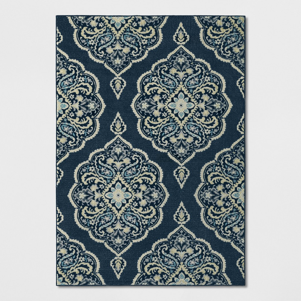 Blue Medallion Tufted Area Rug 7'X10' - Threshold