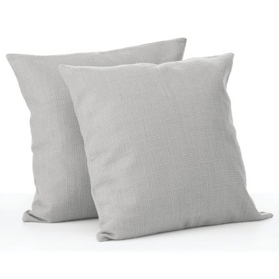 mDesign Decorative Faux Linen Pillow Case Cover - 2 Pack