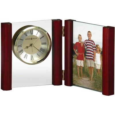 Howard Miller Alex Portrait Table Clock 645-618 – Picture Frame & Timepiece with Quartz, Alarm Movement.