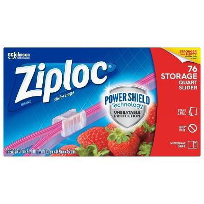 Ziploc Mega Storage Slider Quart - 76ct