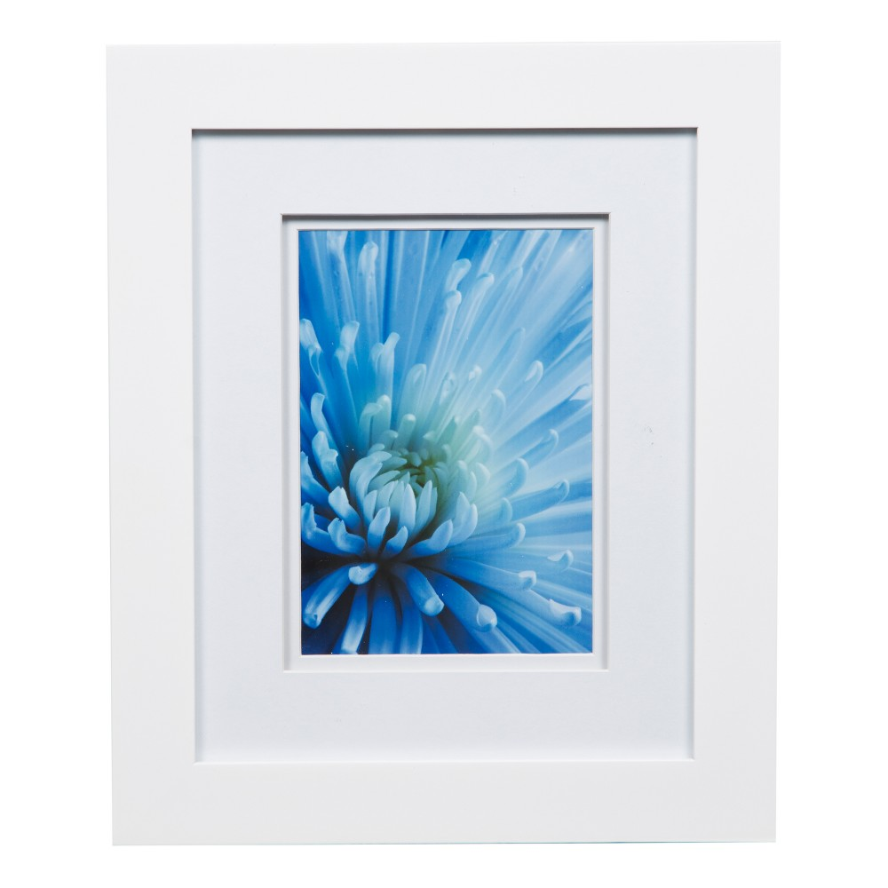 Image of Single Image 8X10 Wide Double Mat White 5X7 Frame - Gallery Solutions