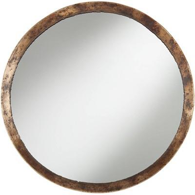 """Uttermost Tortin Jagged Edge 34"""" Round Wall Mirror"""