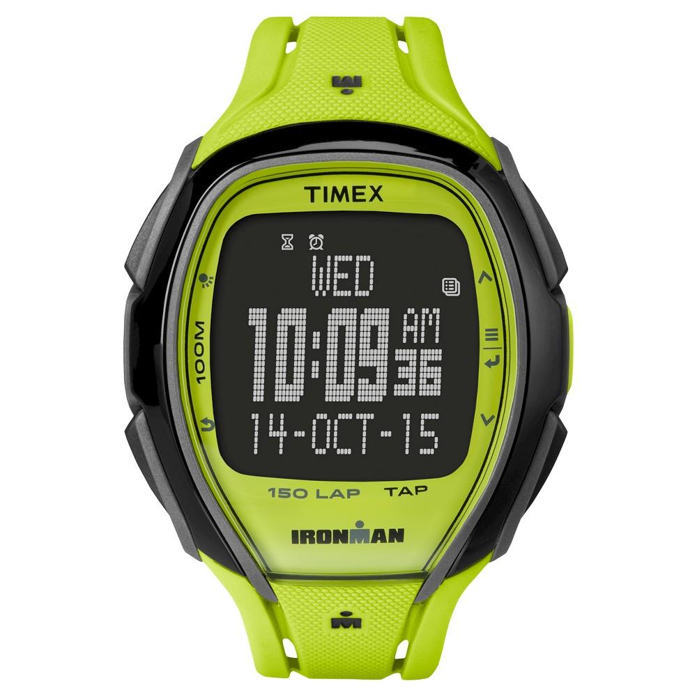 Timex Ironman Sleek 150 Digital Lap Watch - Lime TW5M00400JT, Green